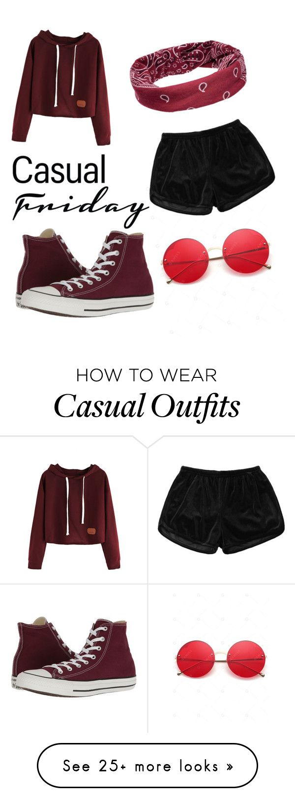 """""""Casual Friday"""" by evadepeva9 on Polyvore featuring Converse and Mudd"""