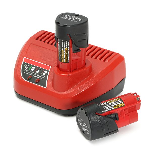 M12 3Pcs Lithium Ion Battery Charger Fit For 12V Milwaukee Power Tools