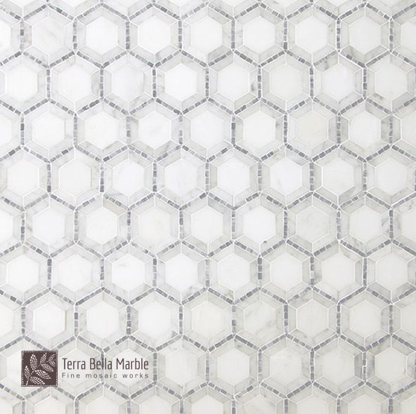 """Our elegant mosaic is defined by a simple shape and modern appeal. No wonder it is one of our most popular tile designs.  Available as:   12 1/4"""" x 13"""" sheet 