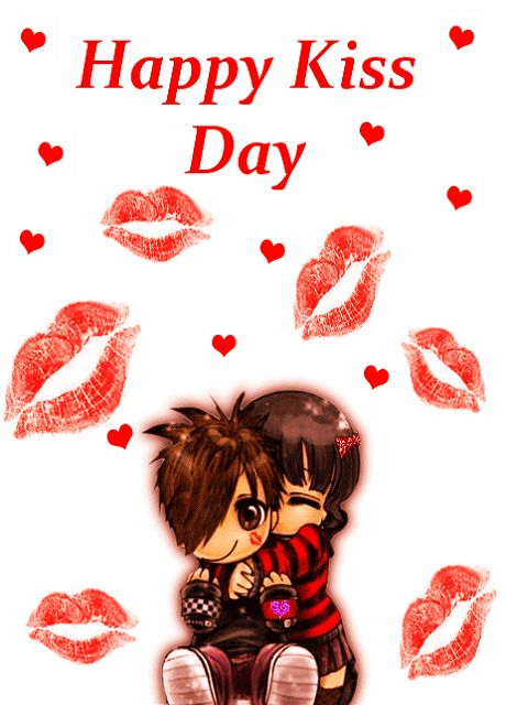 """""""I remember the first day, You kissed me on my lips, Please kiss me again, On this kiss day to rememorize, My memory on this kiss day. Happy kiss day."""""""