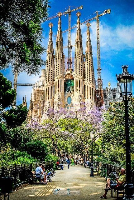 Sagrada Familia, Barcelona, Spain. Go to www.YourTravelVideos.com or just click on photo for home videos and much more on sites like this.