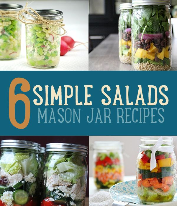 Mason Jar Salads | Healthy Salad Recipes