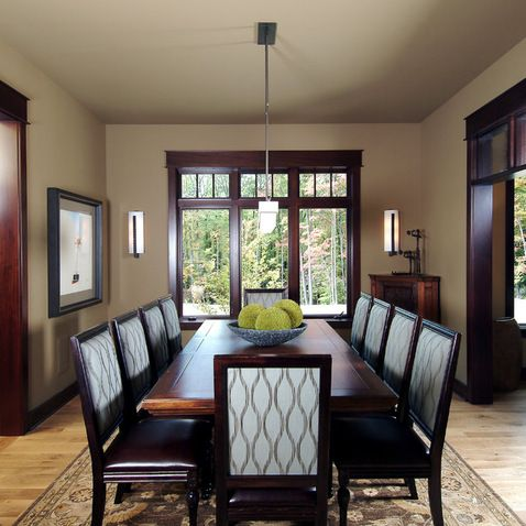 dining room traditional dining room grand rapids visbeen architects paint color revere pewter by benjamin moore light floor dark trim dark wood - Dining Room Paint Colors Dark Wood Trim