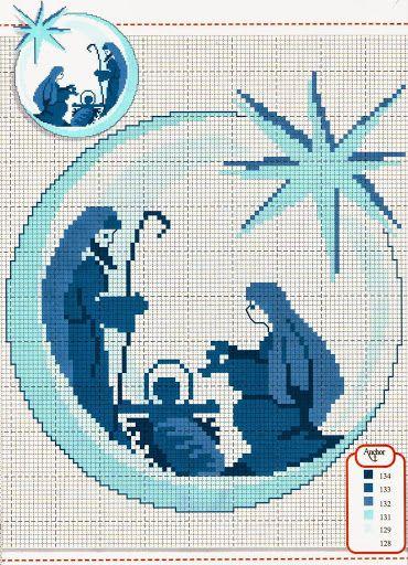 Nativity Scene in Cross Stitch