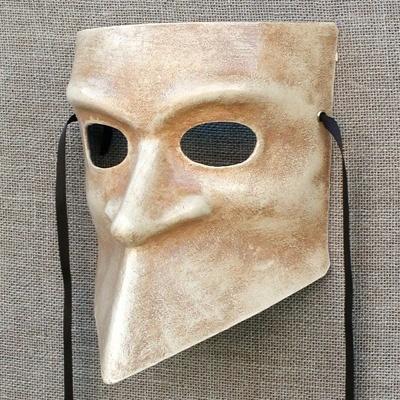 Bauta mask by Ca' Macana. Venice, Italy.