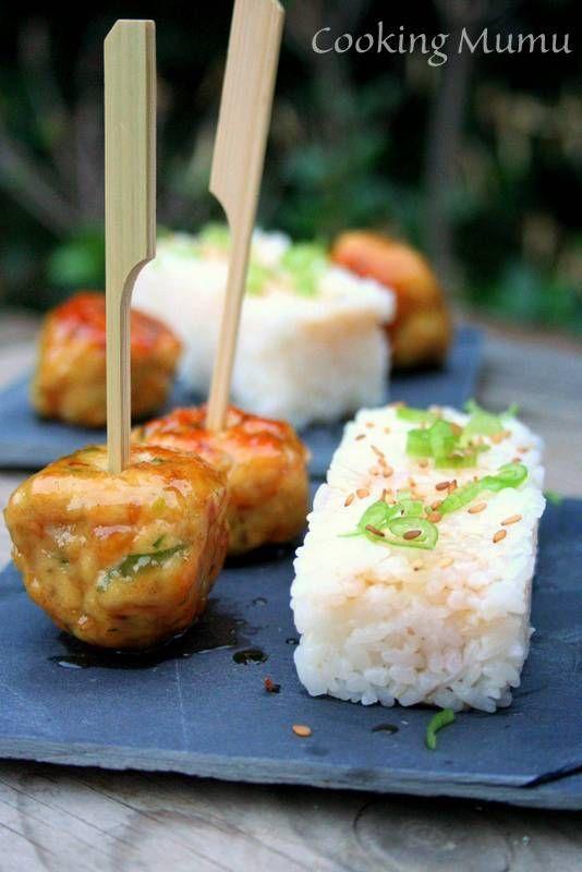 Tsukune, boulettes japonaises caramélisées