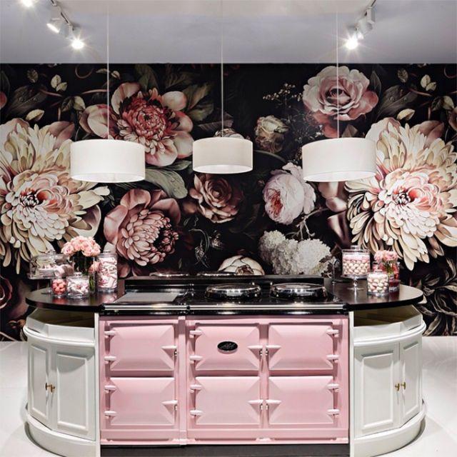 Preciously Me blog : Ellie Cashman Dark Floral II Black Saturated Wallpaper