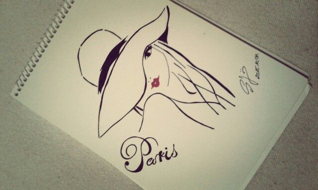 #laparis #model #lady #fashion #style #mode fashionable #hatstyle #redlipstick