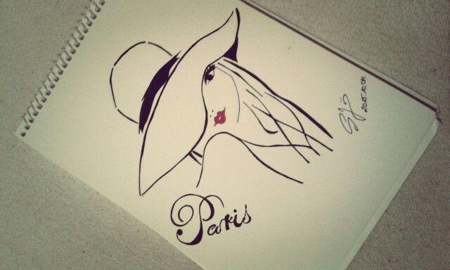 #laparis #model #lady #fashion #style #mode fashionable #hatstyle #redlipstick