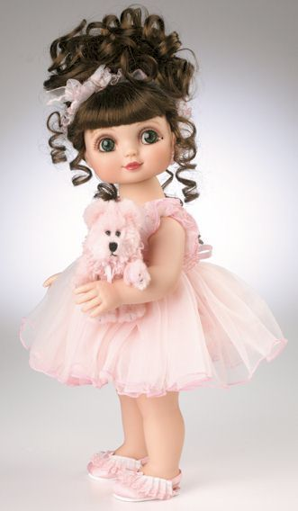 """Marie Osmond is pleased to introduce """"Adora My Teddy"""", from her """"Adora Belle"""" collection. Dressed in a modest, pink tricot teddy (of course!), Adora Belle cuddles her favorite plush pal. """"Adora My Teddy""""...lovingly created for all of us who adore our teddies!"""
