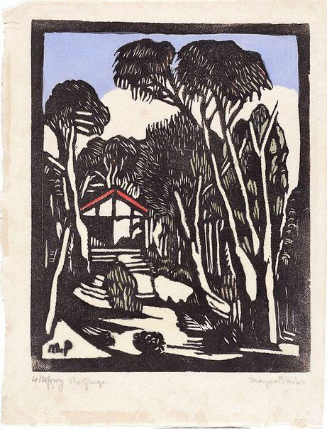 The garage, (circa 1932) by Margaret Preston :: The Collection :: Art Gallery…