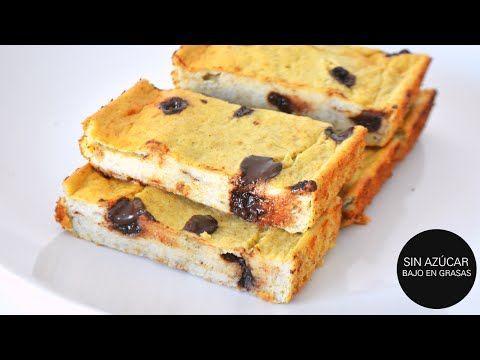 Postres Saludables Pudín de banano y chispas de chocolate saludable