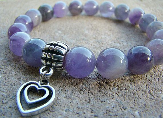 Bead Bracelet Gemstone Bracelet Stretch by BeJeweledByCandi