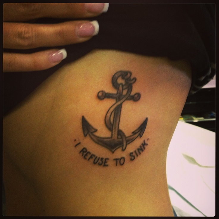 Anchor tattoo by Dave Lopez at Black Sails Tattoo in Tempe, AZ.