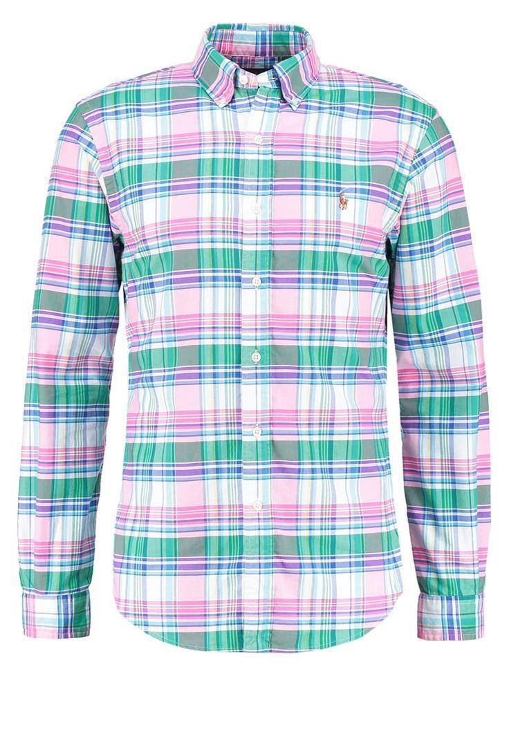Polo Ralph Lauren SLIM FIT Hemd green/pink Premium bei Zalando.de | Material Oberstoff: 100% Baumwolle | Premium jetzt versandkostenfrei bei Zalando.de bestellen!