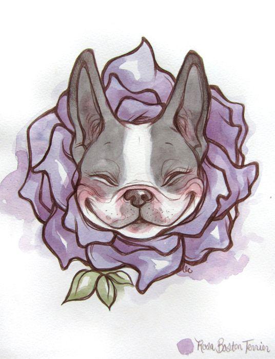 Rosa Boston Terrier by lindsaycampbell.deviantart.com