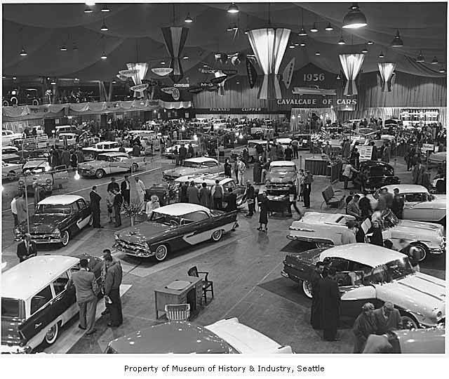 Cavalcade Of Cars. Seattle 1956