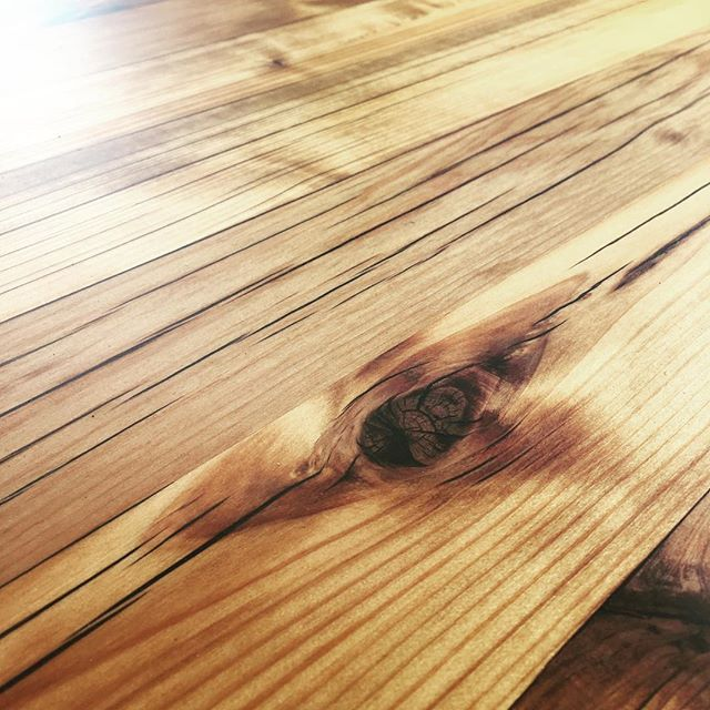 I Love The Way This Western Red Cedar Looks After The Epoxy Fill And Finish This Almost Makes Me Not Regret Letting Th Western Red Cedar Cedar Hardwood Floors