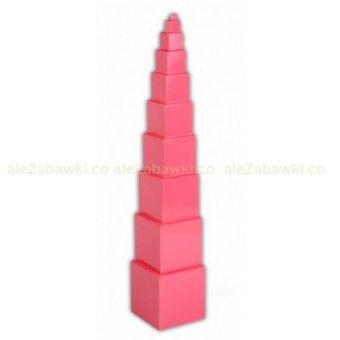 Różowa wieża z podstawą