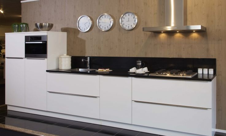 Rechte moderne keuken google zoeken droomkeuken pinterest searching - Eigentijdse keuken grijs ...