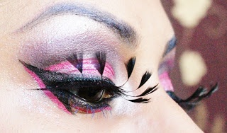 Aqeela MUA: Ladyboys of Bangkok Challenge feather eyelashes