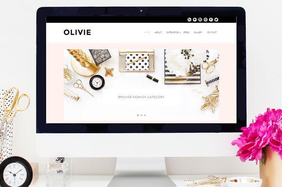 Olivie WordPress Theme by Bluchic on Creative Market