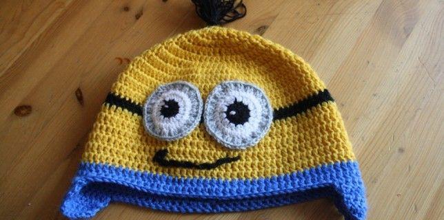 crochet minions cap tutorial Il cappello dei minions all'uncinetto