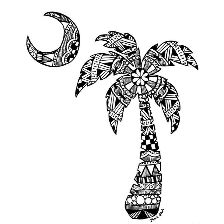 Sc Flag Tattoos: Palmetto Tree #scflag #art #drawing