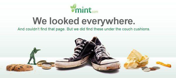 instantShift - 404 Error Page of mint.com