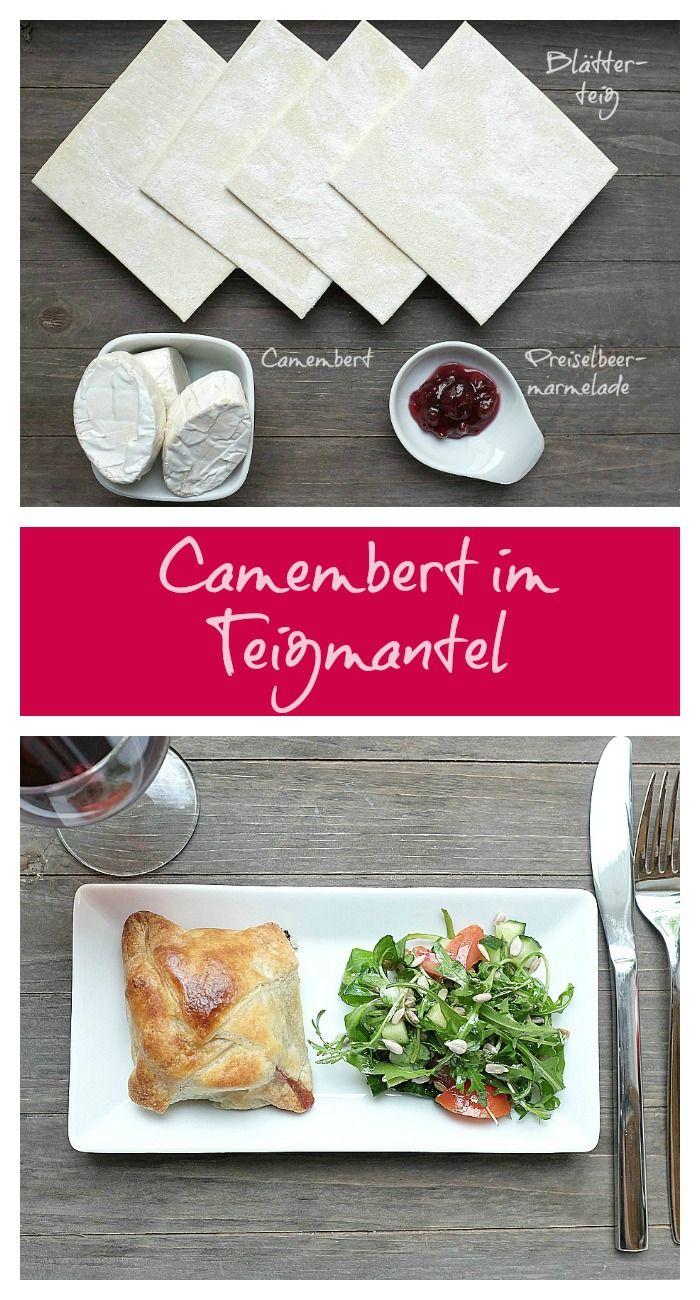 Camembert im Teigmantel mit Preiselbeeren - Mein kleiner Foodblog