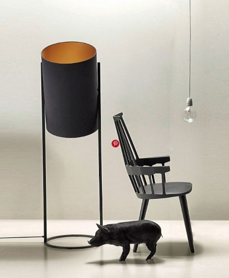 Love the scale of this floor lamp