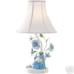 Disney EEYORE From Winnie The Pooh Table LAMP With Flowers