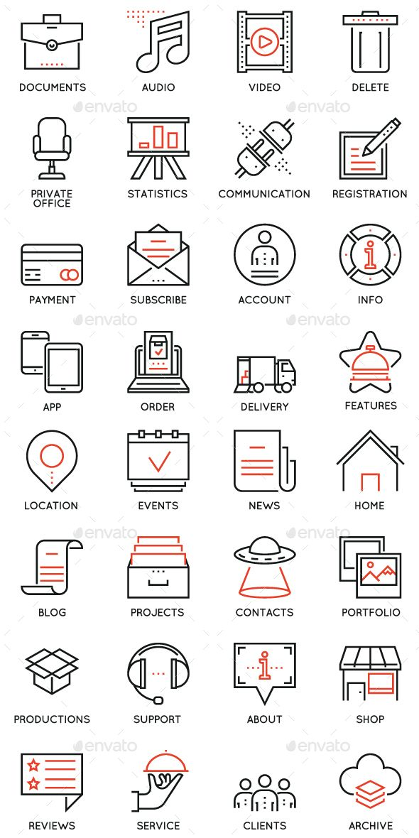 Maintain and Service Icons – Media Icons