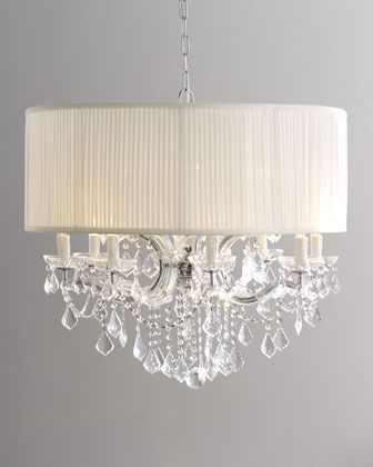 """Shaded """"Cascade"""" Chandelier at Horchow."""