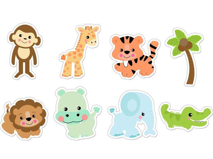 APLIQUE 3,5 CM DE ALTURA    Os apliques podem ser usados para decoração de forminhas de doces, colherzinhas e copos de doces, tubetes e outros itens pequenos de decoração.    OUTROS MODELOS:  http://www.elo7.com.br/safari/al/A0569    CARACTERÍSTICAS  ______________________________  Impressão inkj...