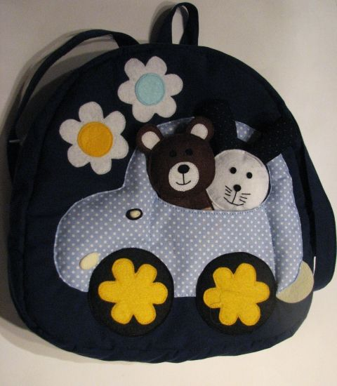 backpack with fingerpuppets