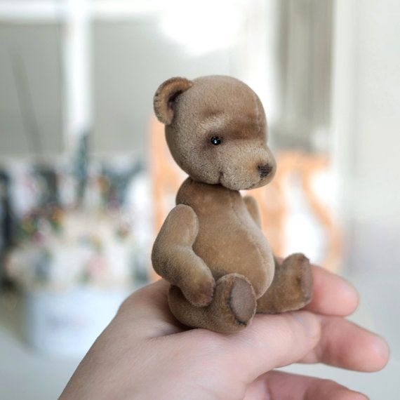 Artist bear Vince collectable handmade miniature by LunaticShop