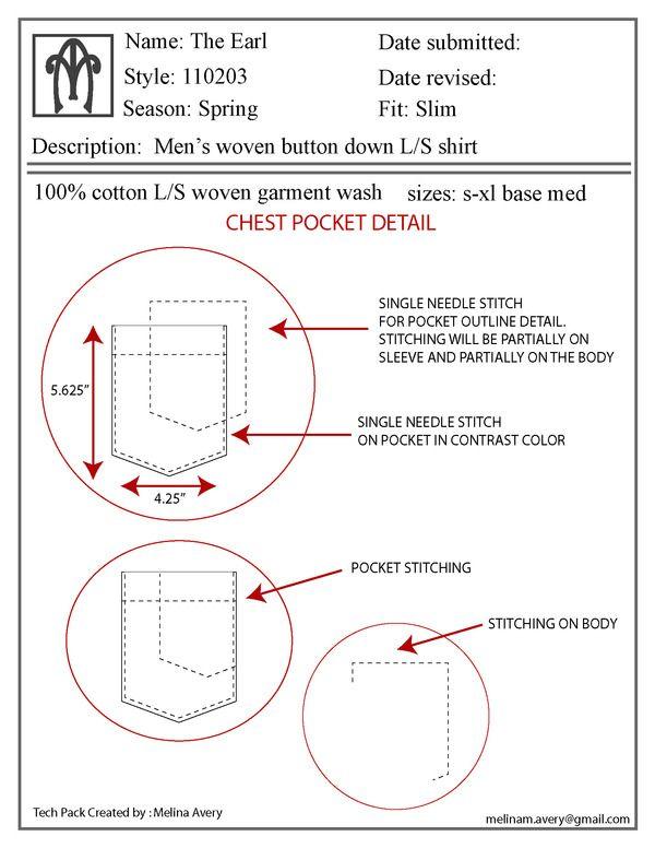 Tech Pack in Illustrator - Technical Design on Behance