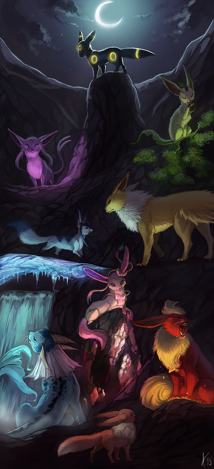 AT - Glaceon + Vaporeon by kreazea on DeviantArt |Vaporeon And Glaceon Wallpaper