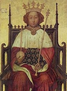"""KING RICHARD II OF ENGLAND Plantagenet 1367-1400 son of my uncle Edward """"The Black Prince"""" Plantagenet of Wales and   Joan Princess of England Countess of Kent. 1st wife was Anne of Bohemia, 2nd wife Isabella of Valois. Shakespeare portrayed him as a cruel, vindictive and irresponsible king. Shakespeare also took many liberties and made great omissions. Richard was a 1st COUSIN."""