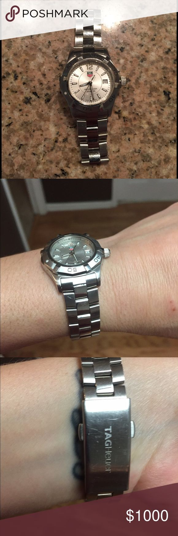 Women's Tag Heur Watch Tag Huer watch, silver, aquaracer collection, purchased new from Jared jewelers, $1800 retail Tag Heuer Jewelry