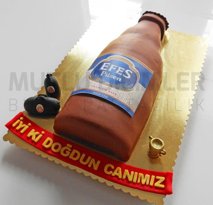 bira pastası - bira şişesi şeklinde pasta - beer cake - efes pilsen pastası https://www.facebook.com/mutludilimlerpastacilik mutludilimler.blogspot.com