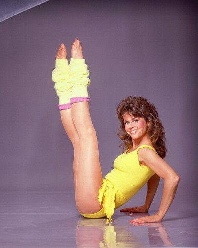 jane fonda. Aaaaargh @faye remember us doing this excercise video in our leotards with those little barbie pink dum bells!!!!!!