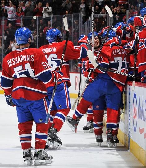 """Les Canadiens de Montréal, après avoir """"scoré"""" - Hockey sur glace (NHL)"""