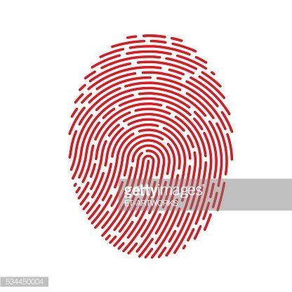 Arte vettoriale : Vettore rosso di impronte digitali