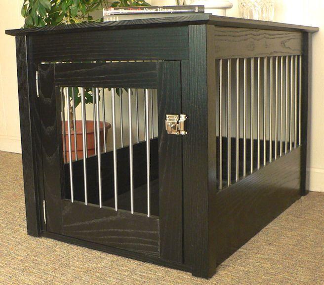 Amish Made Oak Hardwood Dog Crate End Tables