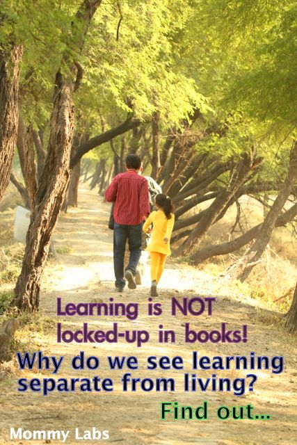 Why do we separate learning from living? Why does our conditioned mind see 'real learning' as that which happens in schools, textbooks, curriculums? Find out.