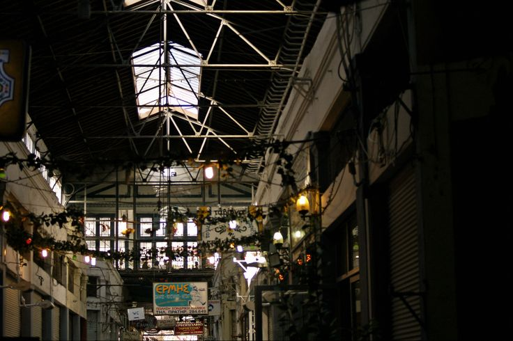 Inside the Central Market of Thessaloniki.  (Walking Thessaloniki - Route 02, Old City Hall)