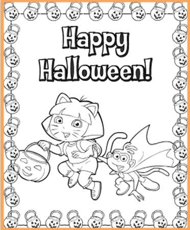 15 best images about dora halloween on pinterest dress for Dora halloween coloring pages