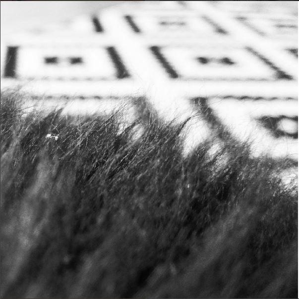 #fur #ikea #carpet #floor #flokati #bw #blackandwhite #interior